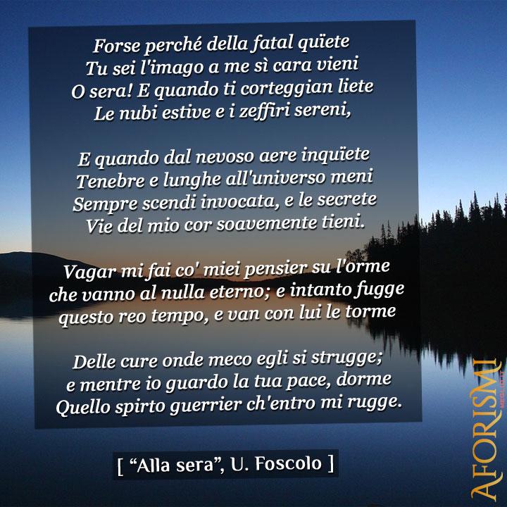 Alla sera, Ugo Foscolo