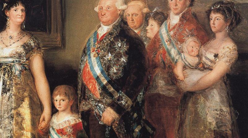 Carlo IV e famiglia - Goya - dettaglio
