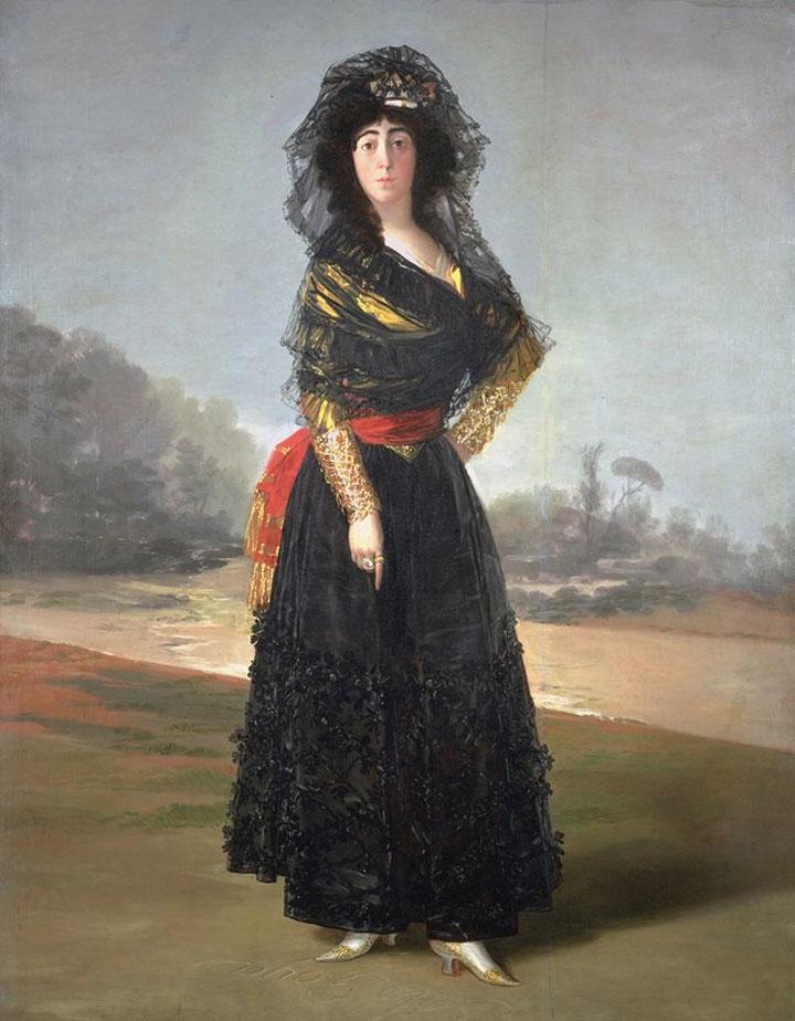 Duchessa de Alba in nero - Goya - 1797