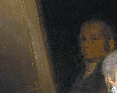 Famiglia Carlo IV - Goya nel suo ritratto