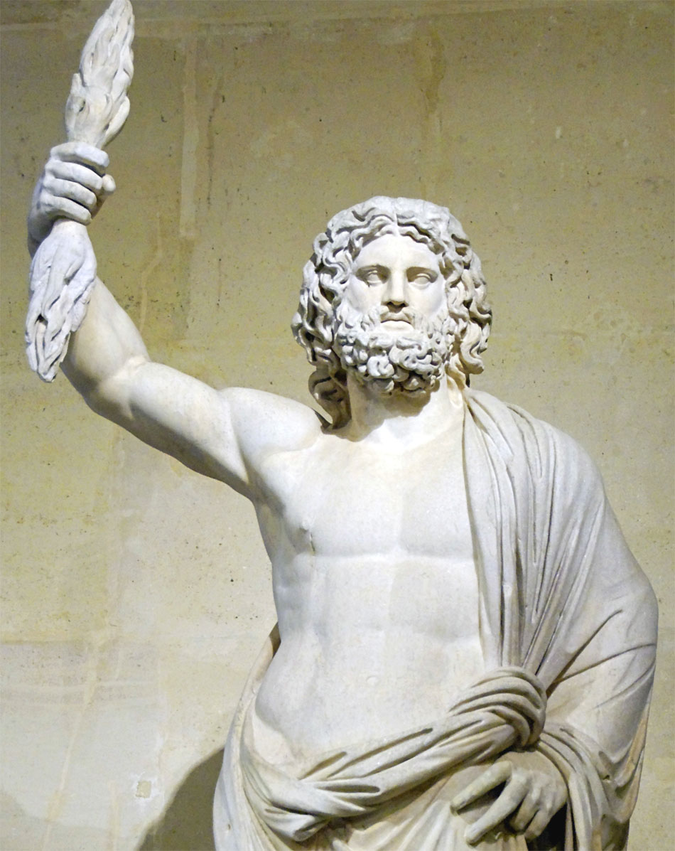Il mito di Zeus: Giove di Smirne (statua conservata presso il Louvre)