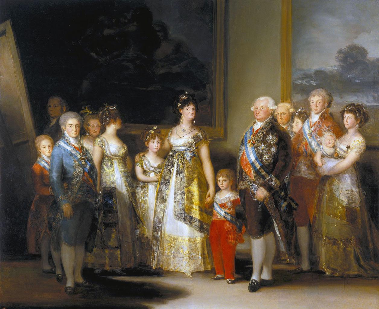 La famiglia di Carlo IV - quadro di Goya