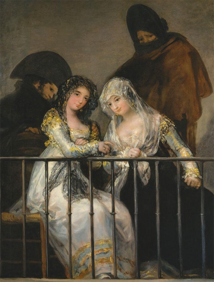 Majas al balcone - Goya