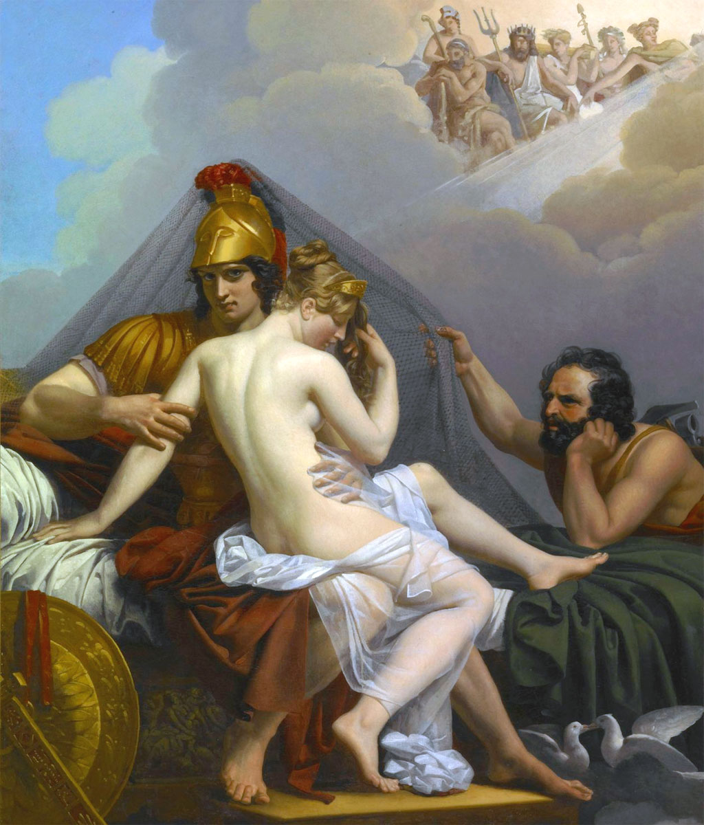 Marte e Venere sorpresi da vulcano (Efesto) - Alexandre Charles Guillemot - 1827