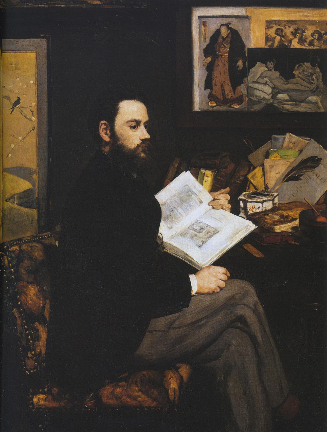 Ritratto di Emile Zola - Manet - 1868