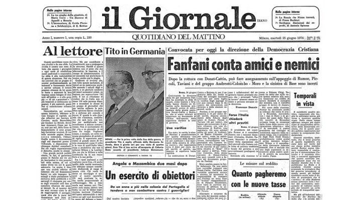 il Giornale di Indro Montanelli - storia e nascita - primo numero