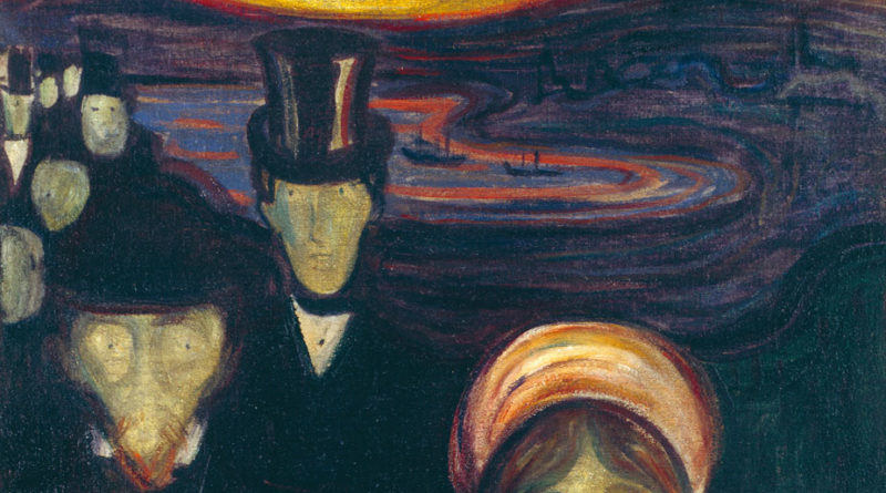 Ansietà Ansia Angoscia Anxiety Munch Edvard Munch 1894 dipinto opera picture