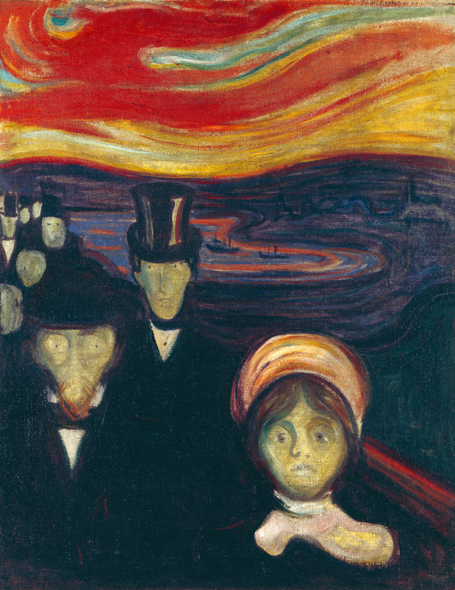 Ansietà Ansia Angoscia Anxiety Munch Edvard Munch 1894 dipinto opera picture