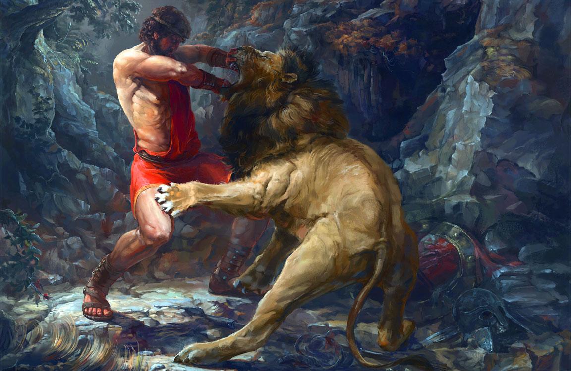 Ercole - Eracle - Dodici fatiche - Leone di Nemea - 12 fatiche di Ercole