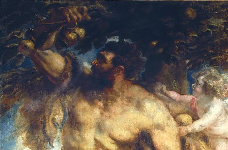 Ercole e i tre pomi d'oro - nel giardino delle Esperidi - Rubens - dettaglio