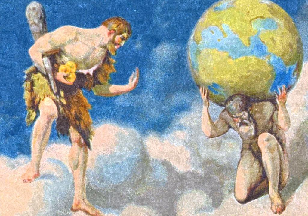 Ercole e le tre mele d'oro - Eracle e Atlante