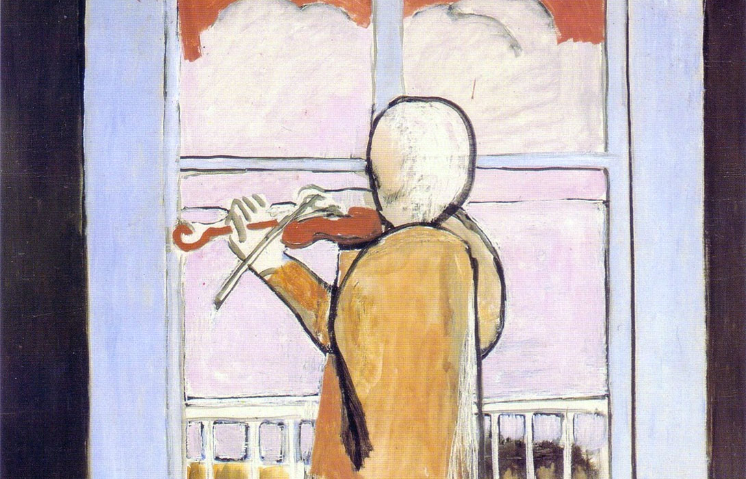 Le Violoniste a la fenetre - The Violinist at the window - 1918 - Matisse