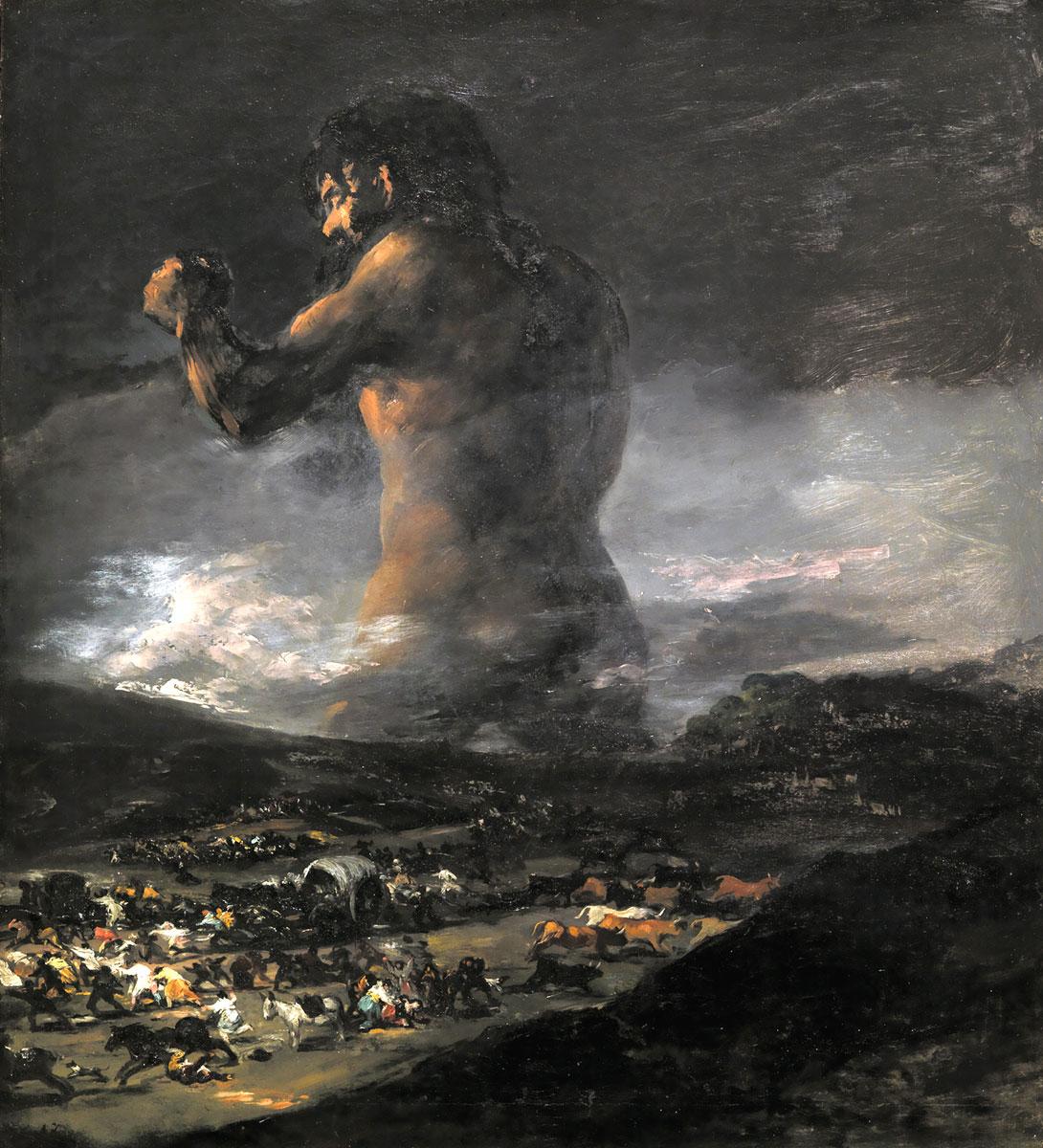 El Coloso - Il colosso - Goya - 1808