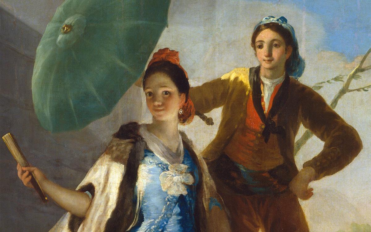 Il parasole - Goya - dettaglio