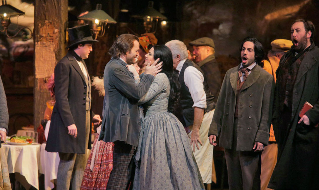 La Bohème - Puccini - Rodolfo e Mimì - scena