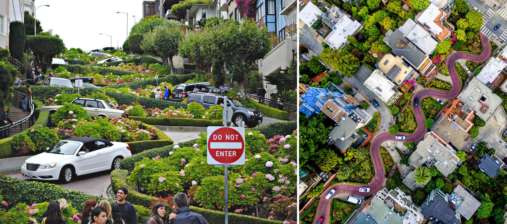 Lombard Street strada a curve San Francisco