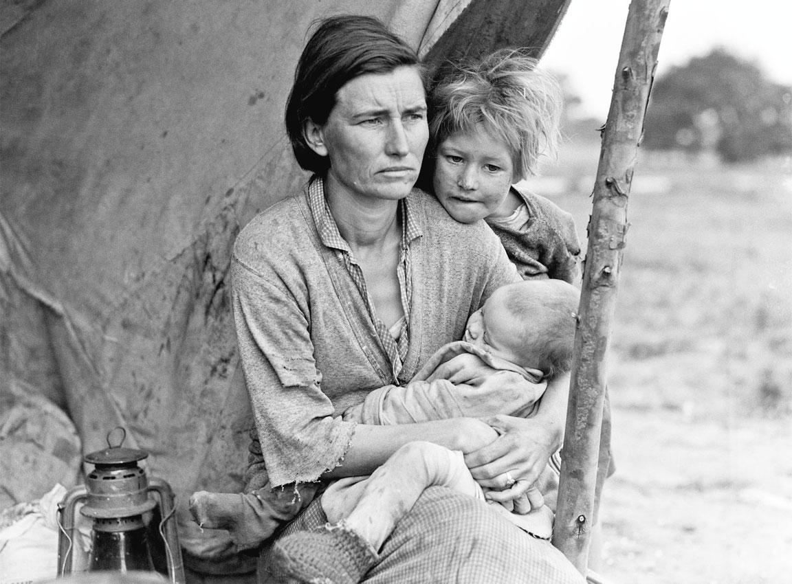 Migrant Mother - Destitute Pea Picker - raccoglitrice di piselli