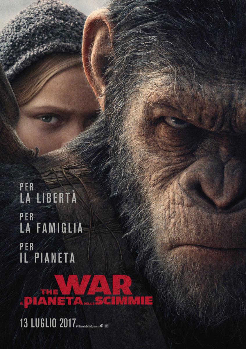 The War - Il pianeta delle scimmie: locandina e poster del film
