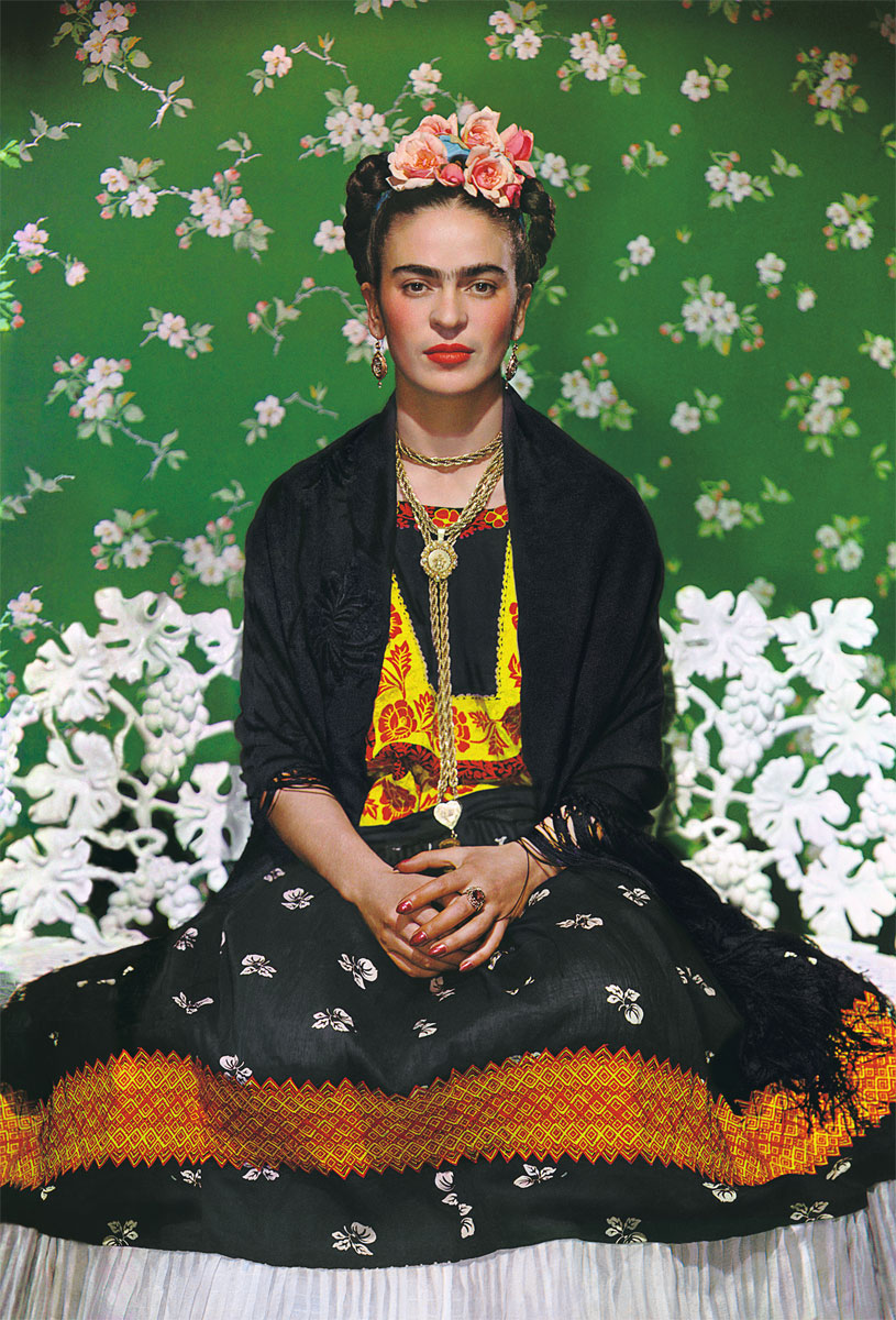 Frida Kahlo on White Bench - by Nickolas Muray - 1939