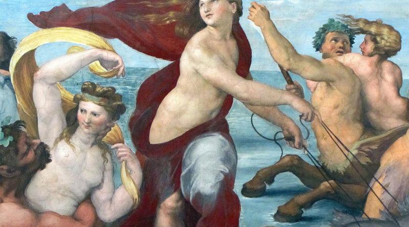 Trionfo di Galatea - Raffaello - dettaglio centrale