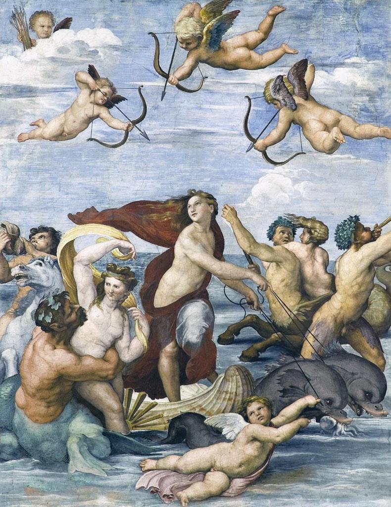 Trionfo di Galatea - affresco - Raffaello Sanzio
