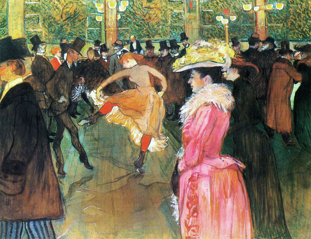 Ballo al Moulin Rouge - At the Moulin Rouge - The Dance - La Danse au Moulin-Rouge - Toulouse Lautrec