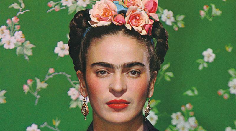 Frida Kahlo on White Bench - detail