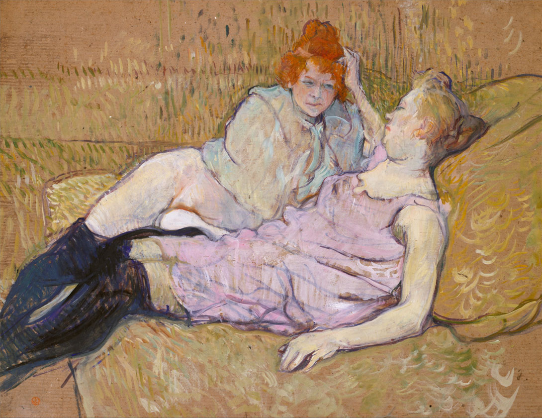 The Sofa - Toulouse Lautrec