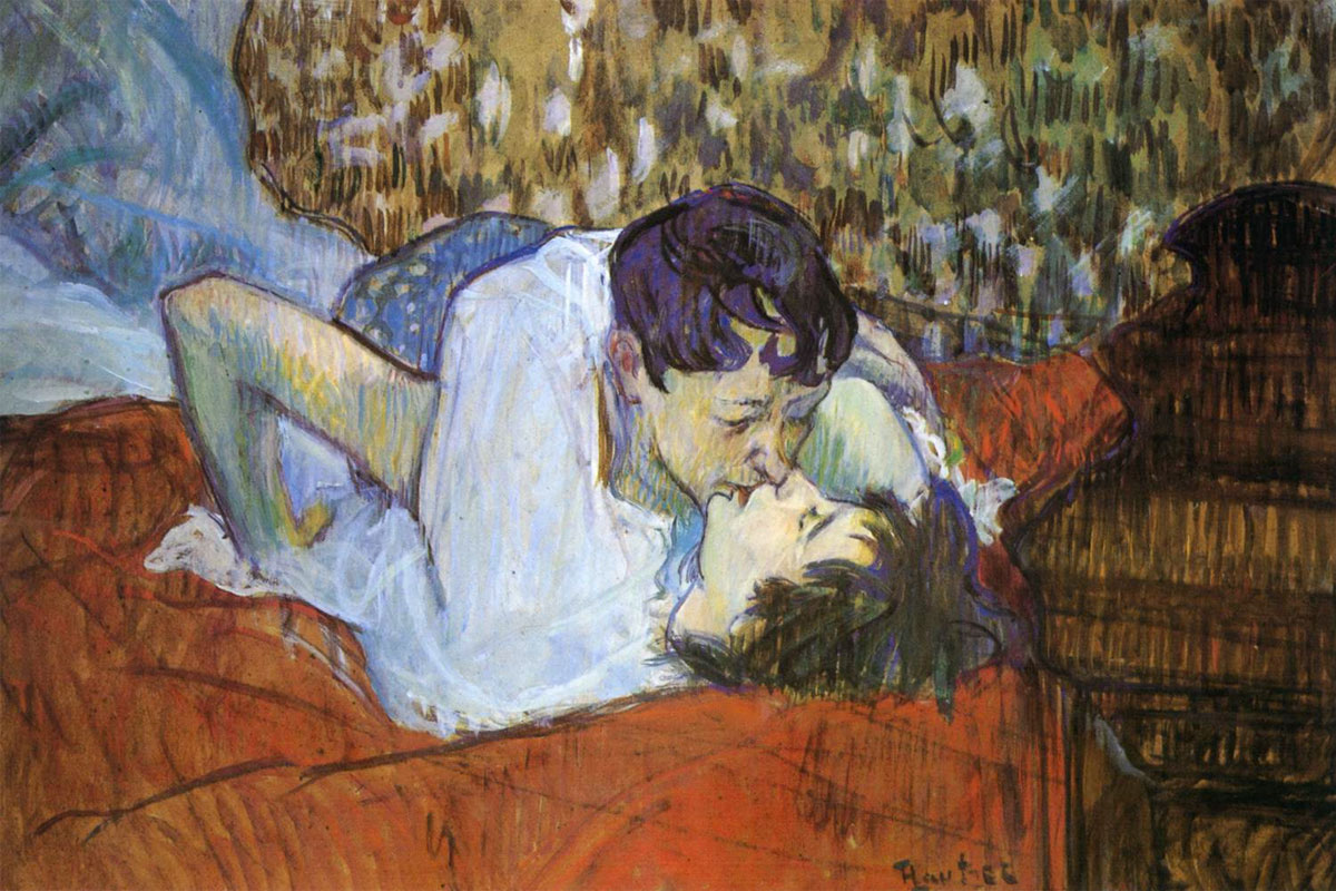 Il bacio - The Kiss - quadro - Toulouse Lautrec - 1892