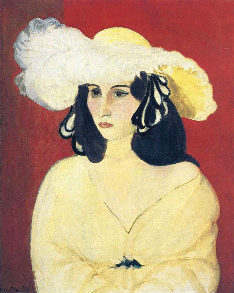 Les Plumes Blanches - Piume bianche - Matisse - Antoinette Arnoux