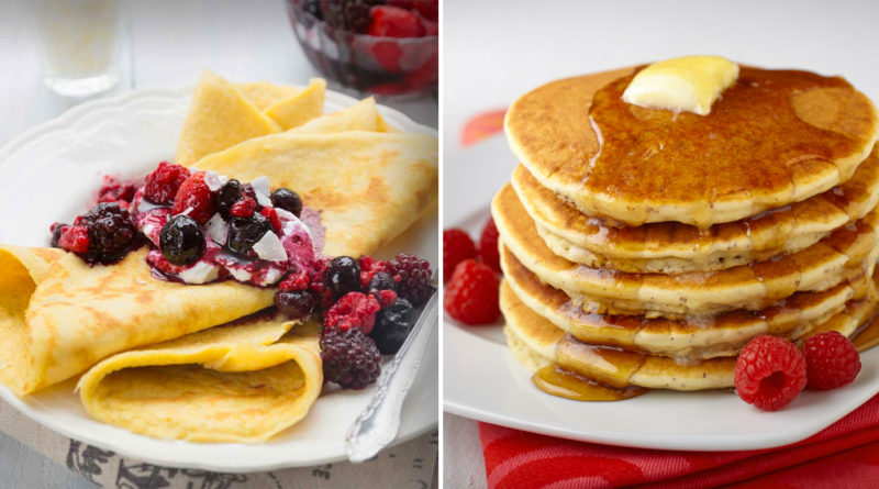 crepes - pancake - differenze