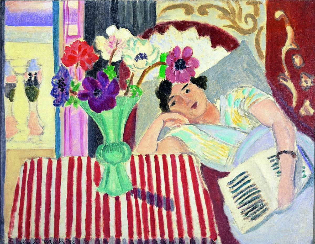 Donna e anemoni - Femme et anemones - Matisse 1920