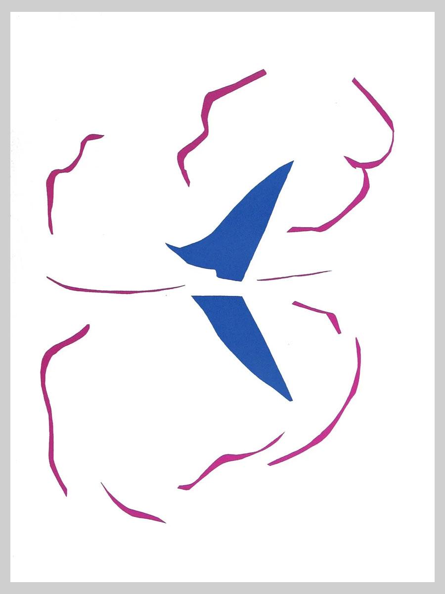 Le Bateau - Matisse - quadro appeso al contrario - 1953