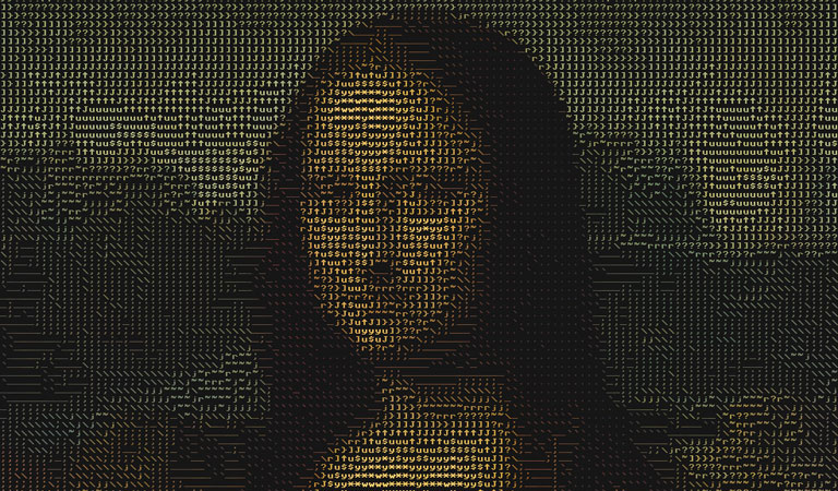 ascii art - gioconda - mona lisa