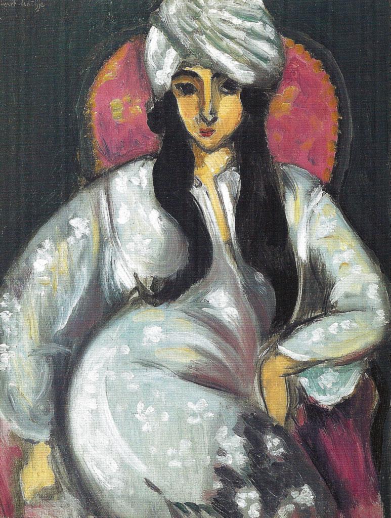 Laurette in a White Turban - Lorette con copricapo persiano - Matisse - 1917