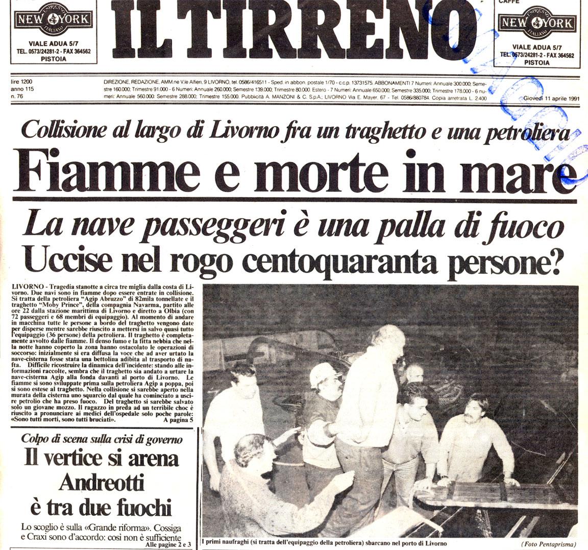 Il Tirreno - disastro Moby Prince