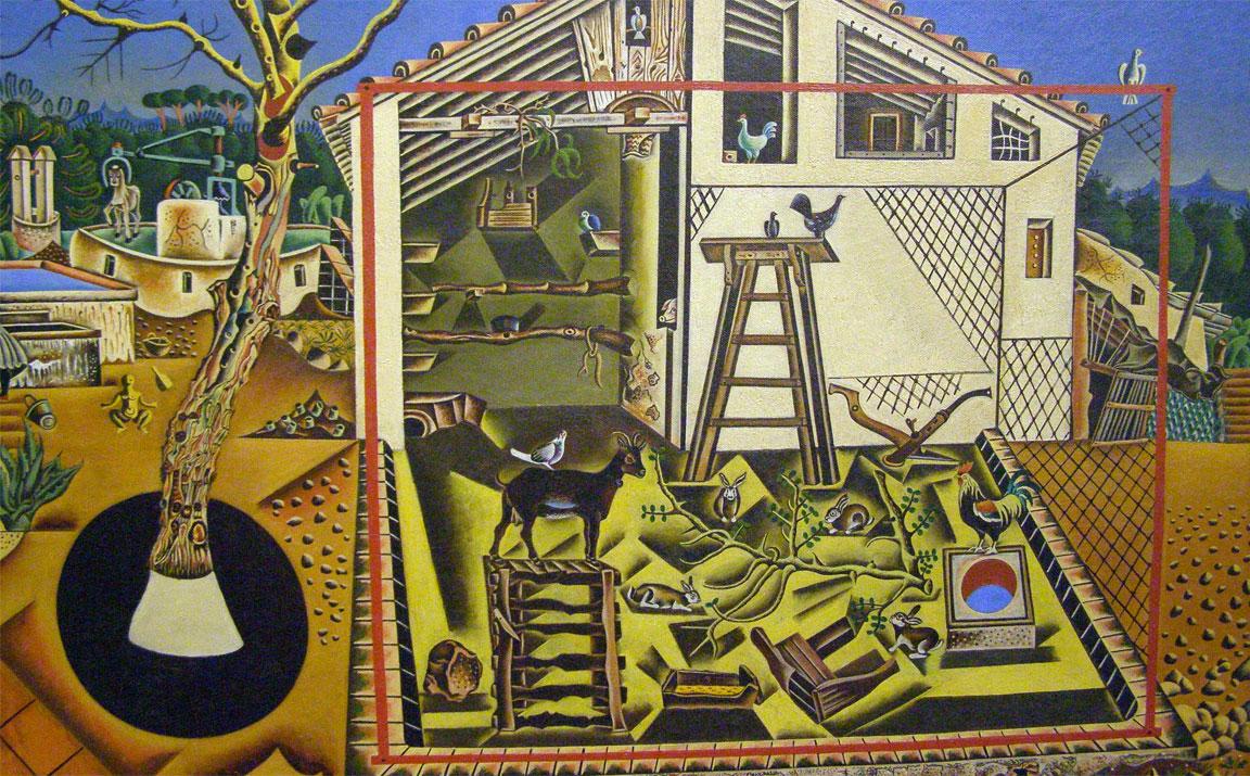 La Fattoria - The Farm - Joan Miró - dettaglio