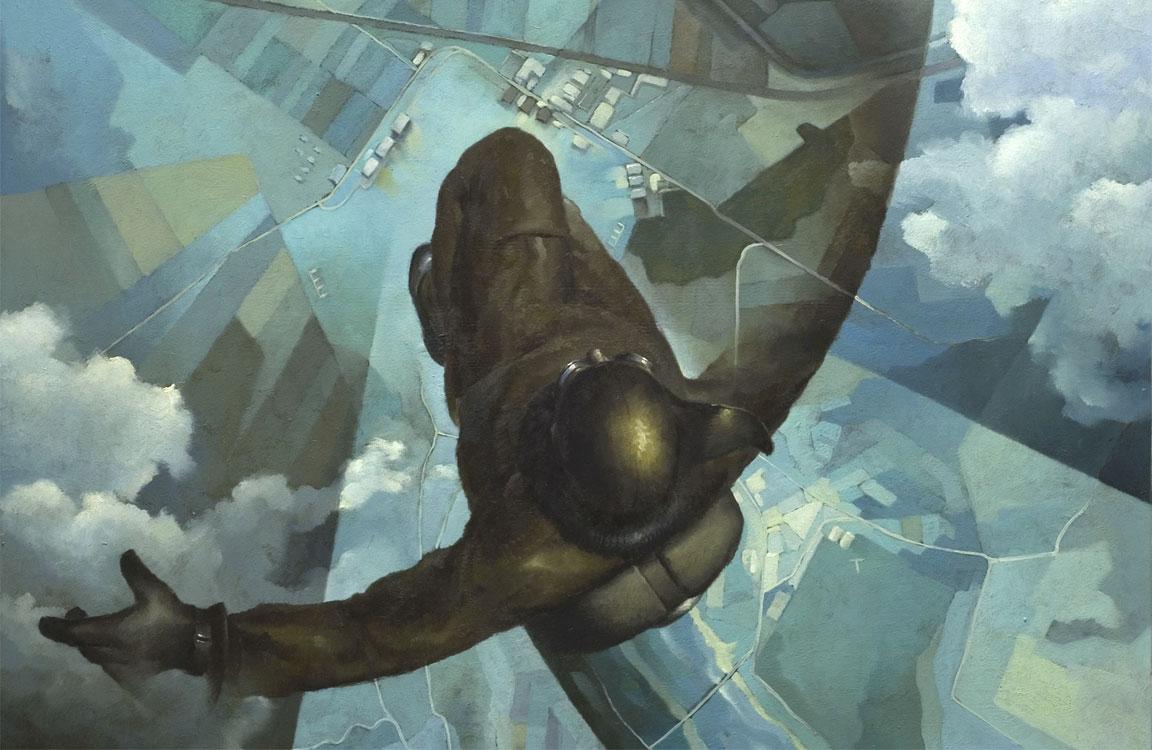 Aeropittura - Prima che si apra il paracadute