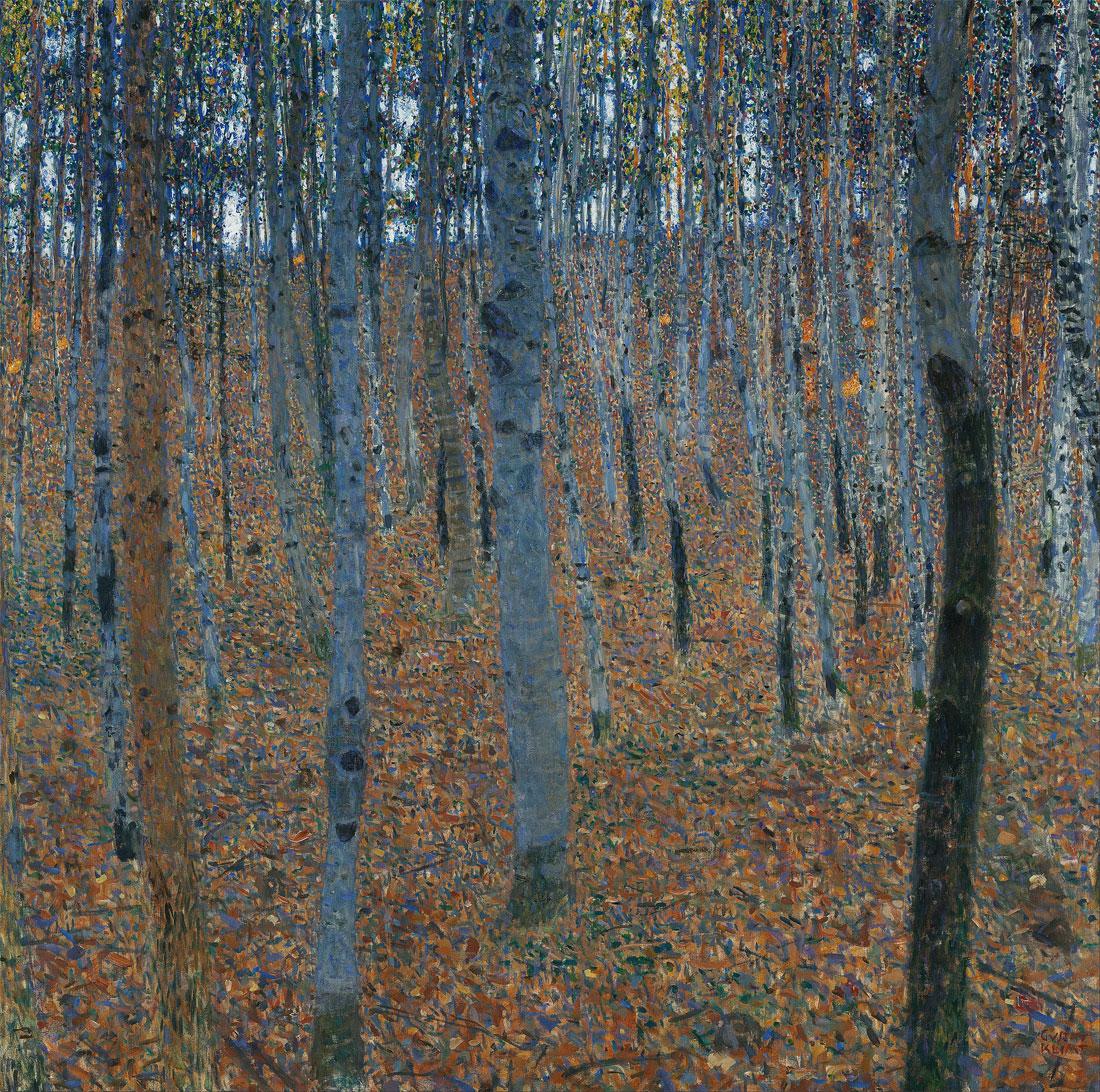 Faggeto I (Beech Forest I), quadro di GustavKlimt datato 1902