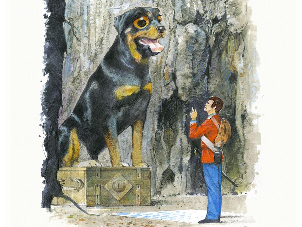 L'Acciarino Magico - il soldato e il grande cane