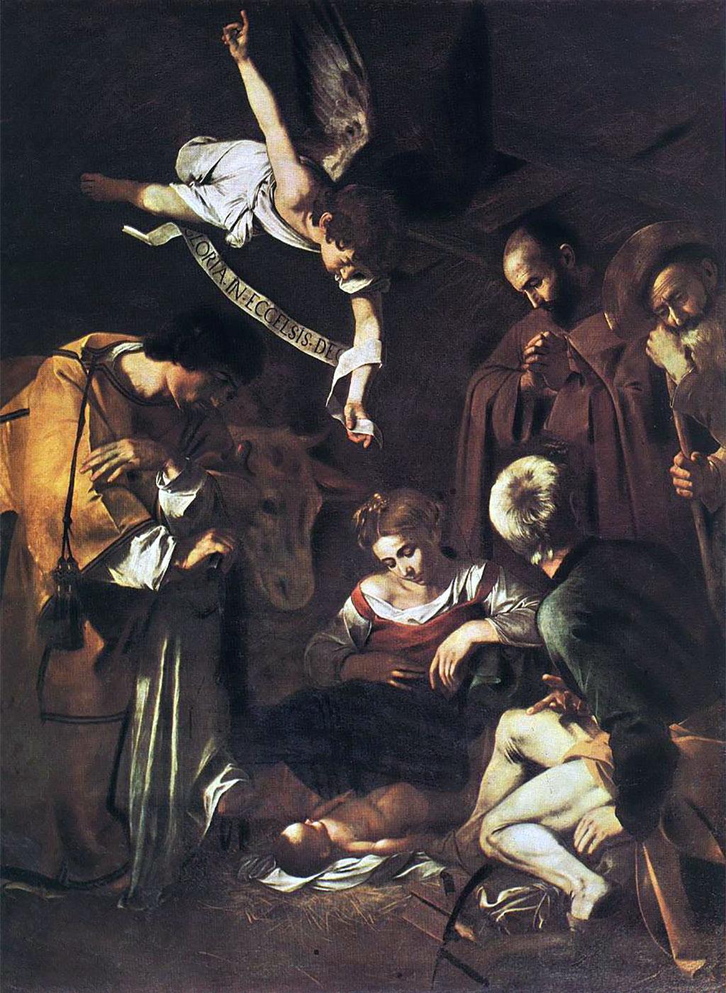 Natività coi Santi Lorenzo e Francesco d'Assisi, opera di Caravaggio
