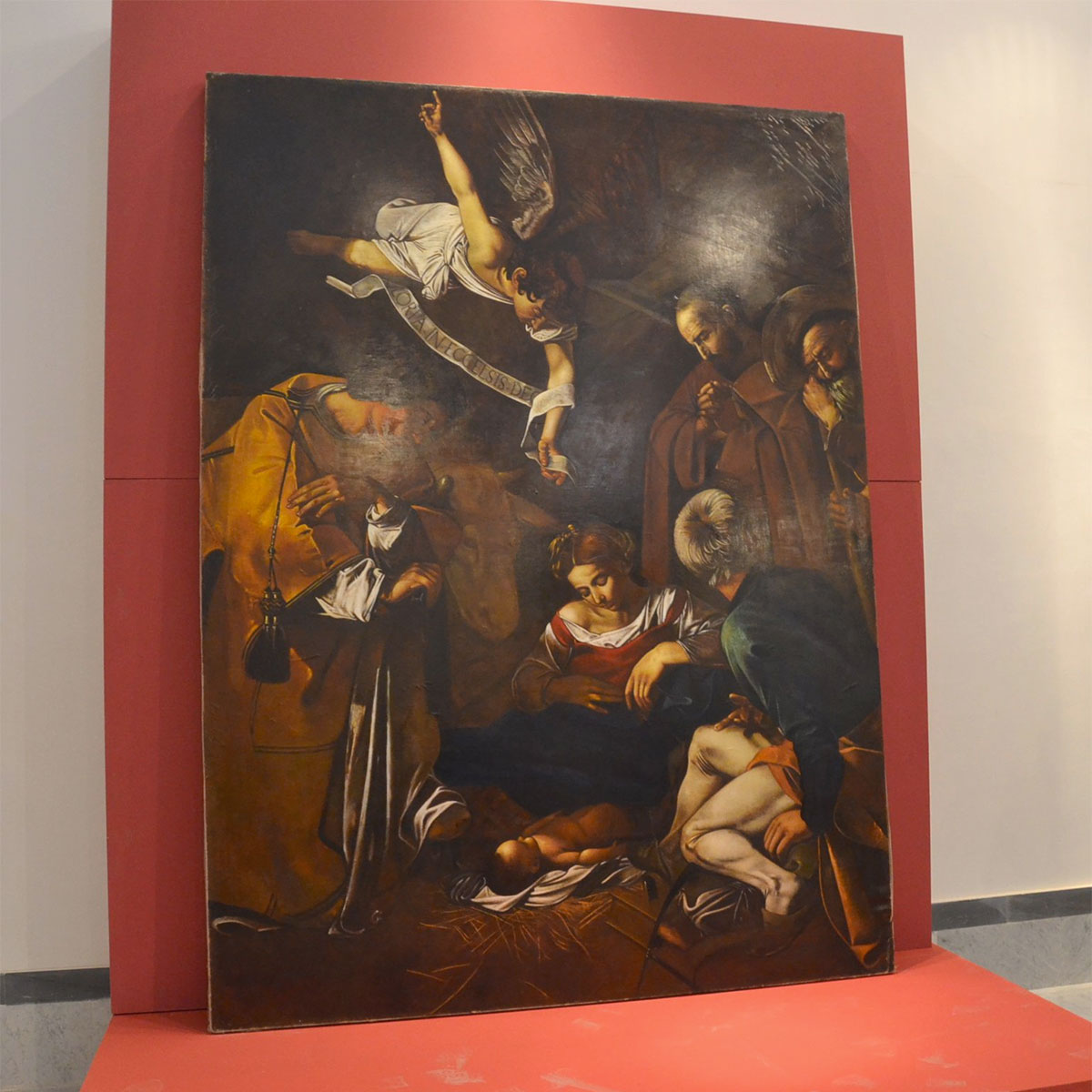 La replica della Natività coi Santi Lorenzo e Francesco d'Assisi (di Caravaggio), a Palermo