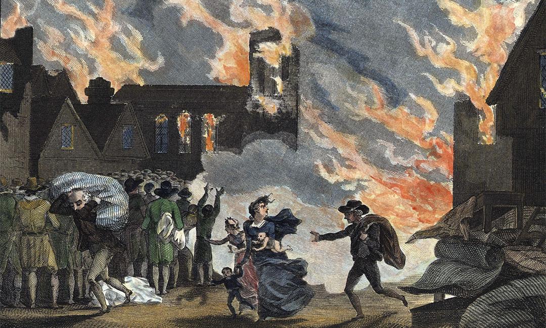 London Great Fire Grande incendio di Londra 1666
