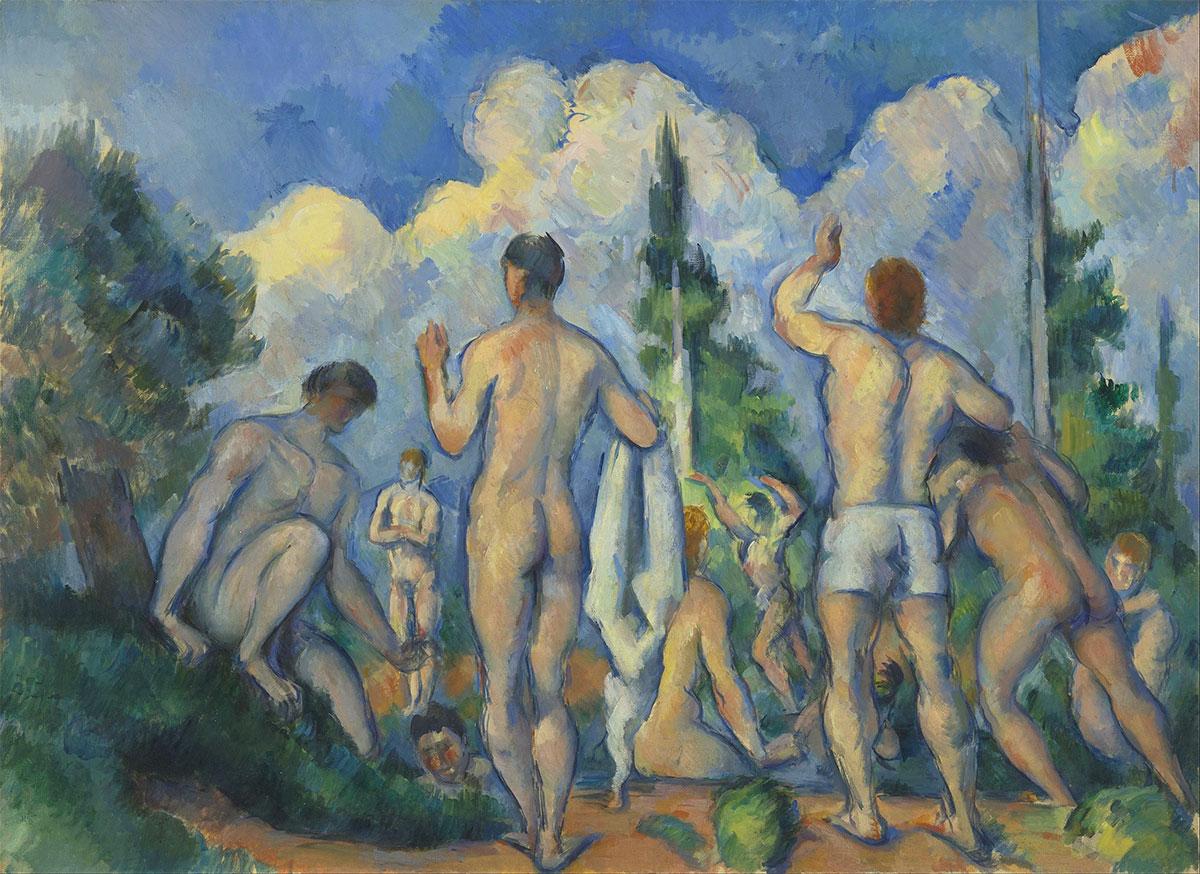 Bagnanti Cézanne quadro dipinto Bathers Baigneurs