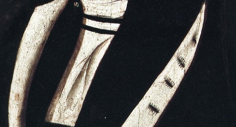 Ritratto d'uomo Il dettaglio degli occhielli