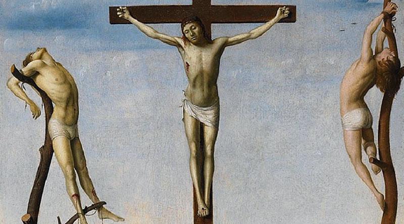 Crocifissione Antonello da Messina dettaglio