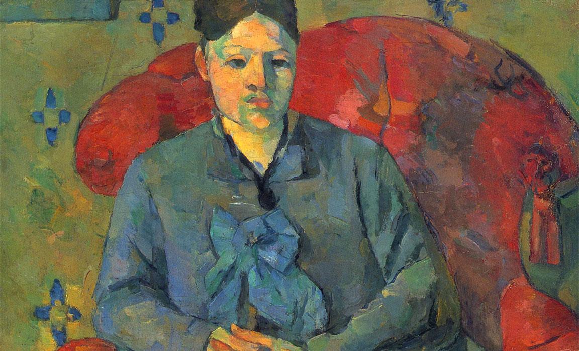 Madame Cézanne dans un fauteuil rouge