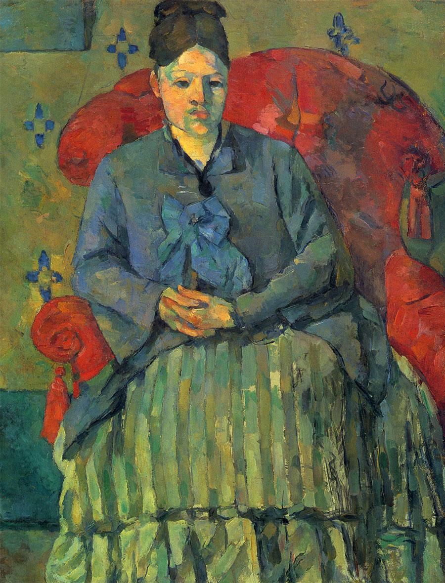 La Signora Cézanne sulla poltrona rossa