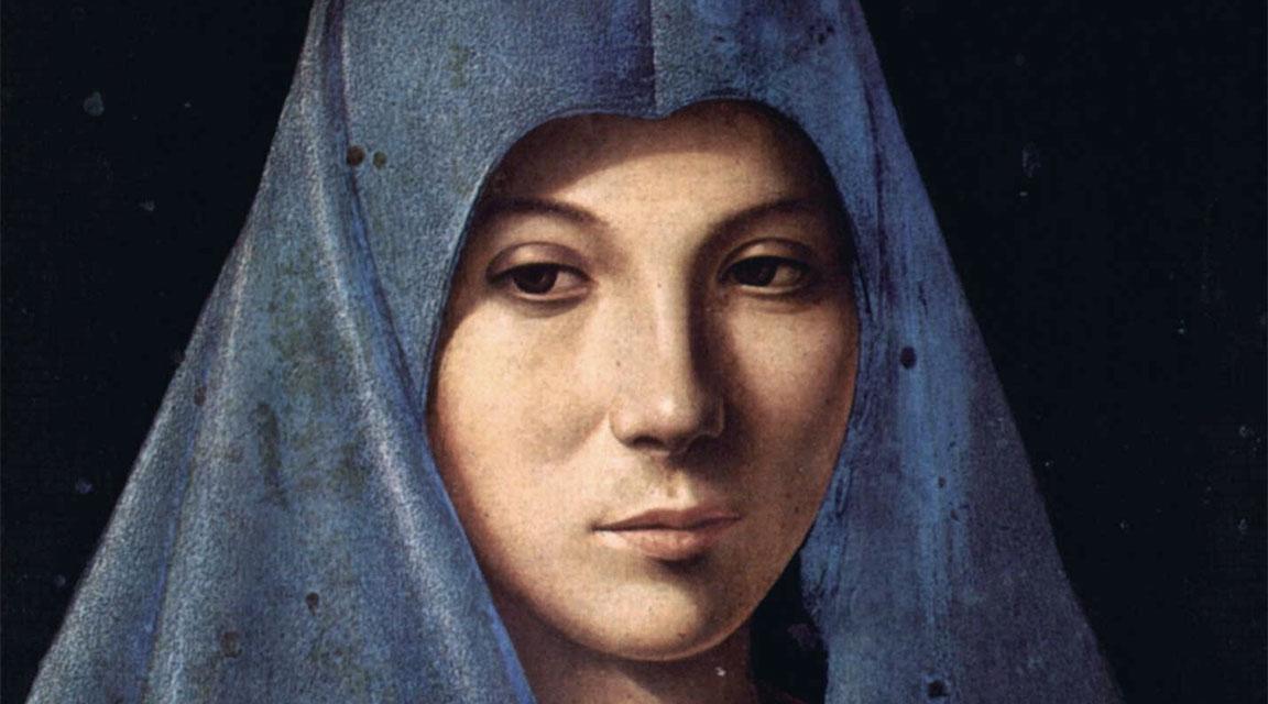 Annunciata di Palermo - dettaglio del volto di Maria