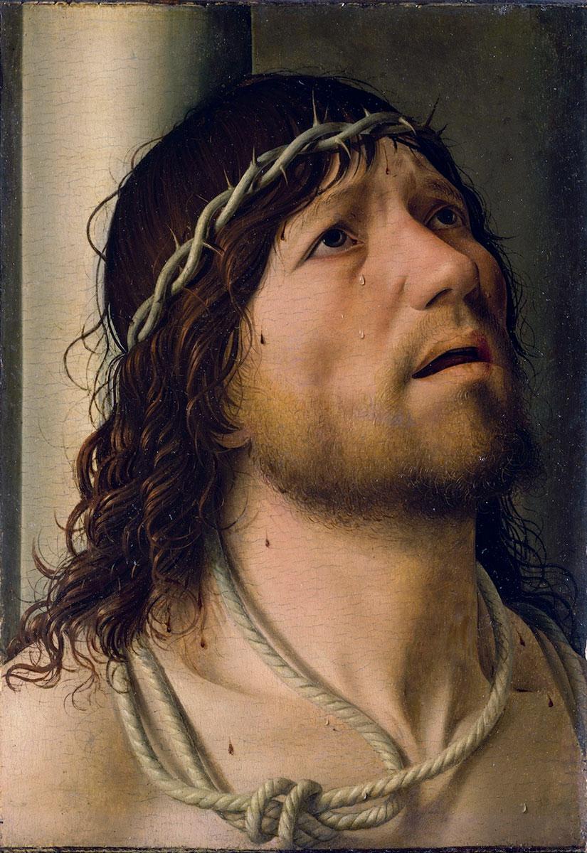 Cristo alla colonna Antonello da Messina Christ at the column